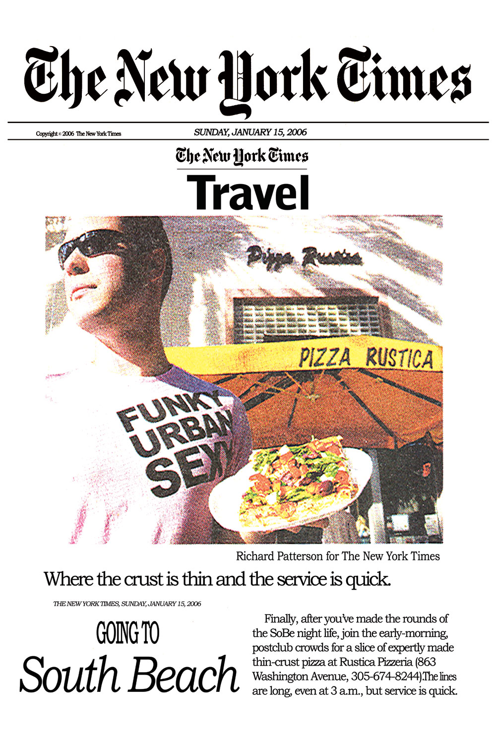 New York Times Travel Expertly Made Thin Crust Pizza